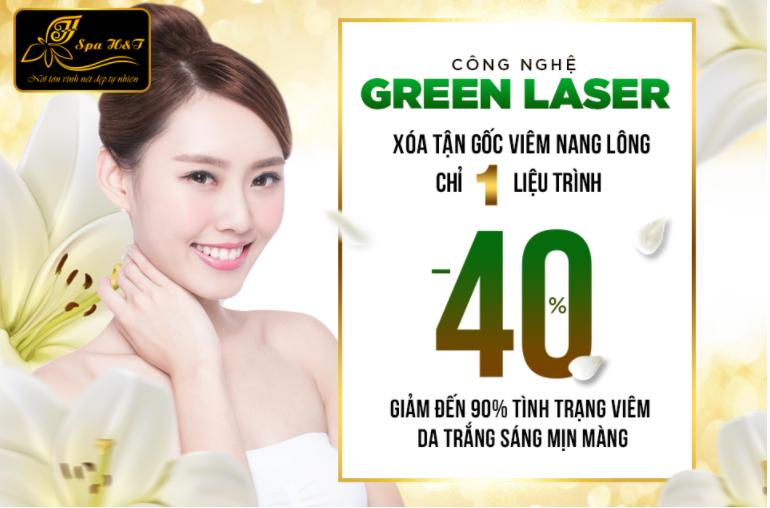 công nghệ green laser trị viêm nang lông